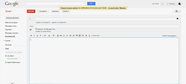 envoi video Gmail
