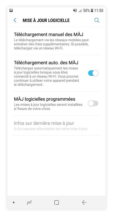 mise à jour Android