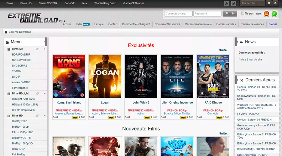 Extreme Download : On vous dit tout sur le site de streaming